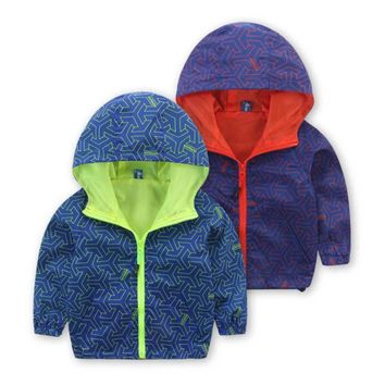 Fashion Spring Autumn Kids Clothes Boys Girls Outwear Children Hooded Jackets Handsome Baby Long Sleeve Windbreaker Coat