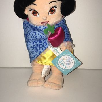 Disney Parks 10in Snow White Baby in Blanket Plush New with Plush