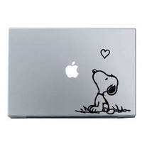 Snoopy Love MacBook Decal Mac Apple skin sticker