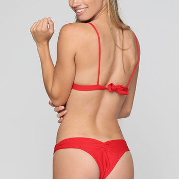 Boom Boom Bikini Bottom in Red