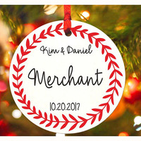 Our First Christmas ornament as Mr & Mrs, Deer ornament,  Personalized christmas tree ornament, Wedding Ornament, christmas gift (Ch22)