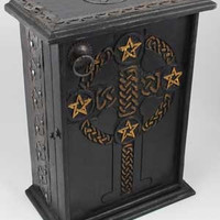 Pentagram and Celtic Cupboard 11""