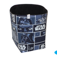 NEW Star Wars Storage Bin | Fabric Basket | Blue Storage Bin | Bedroom Storage | Boy's Room Organizer