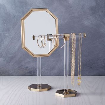 Bianca Jewelry Tree + Vanity Mirror