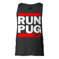 Run Pug Tank, Tank top, Pug Tank, Workout Clothing, Gym Tank Top