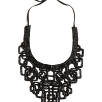 NIC+ZOE - Modern Square Necklace - Black Onyx - Os