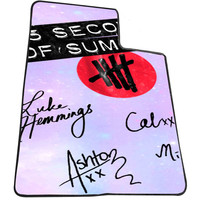 5sos logo signature 3f8e7591-3870-44b0-98ed-114967c4814d for Kids Blanket, Fleece Blanket Cute and Awesome Blanket for your bedding, Blanket fleece *AD*