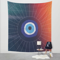 Evil Eye Wall Tapestry by DuckyB (Brandi)