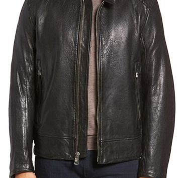 Andrew Marc Boarder Lambskin Leather Moto Jacket | Nordstrom