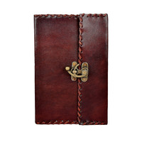 Genuine Leather Blank Journal with Latch