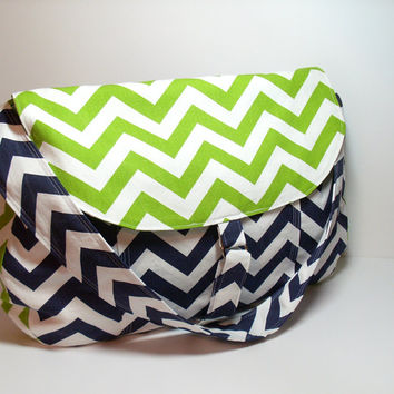 Large Weekender Bag, Large Satchel Bag, Large Navy Purse, Navy Shoulder Bag, Crossbody Bag, Large Chevron Bag, Messenger Bag, Large Bag