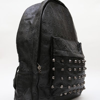 Studded Out Skull Backpack