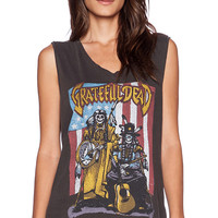 Junk Food Grateful Dead La Mer Muscle Tank in Black