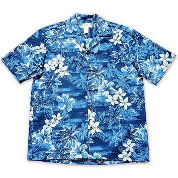 Diamond Head Blue Hawaiian Cotton Shirt
