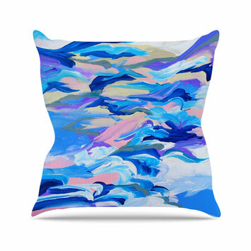 "Ebi Emporium ""Still Up The Air"" Blue Purple Outdoor Throw Pillow"