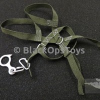 Special Air Service (SAS CRW) - Green Abseil Harness W/Carabiners