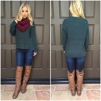 Christmas Green Knit Sweater