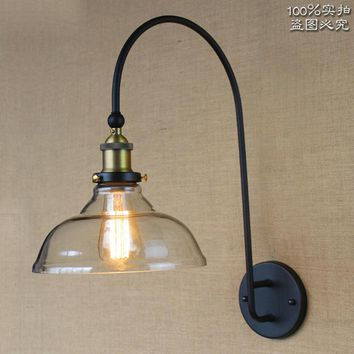 American Vintage bedside wall lamps industrial Iron Loft Aisle wall sconces Lamp For Cafe Club Bar Decoration fixture Lighting