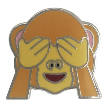 See No Evil Monkey Emoji Pin