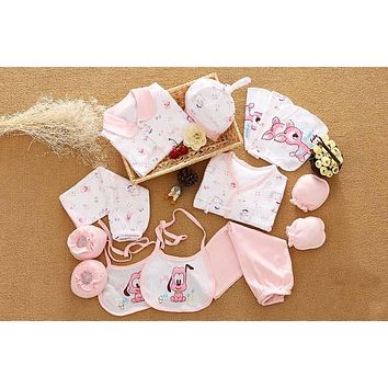 18 Pcs/Set 100% Cotton Newborn Baby Clothing Set Infant Toddler Girls Boys Clothes Set New Born Gifts