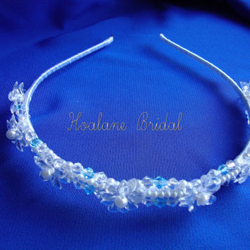Crystal Headband,  Bridal crystal headpiece,  Wedding Pearl & Crystal headband
