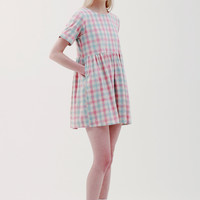 T-Shirt Smock Dress Pink Check