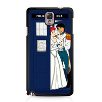 Ariel Mermaid and Eric Wedding in Tardis Dr Who Samsung Galaxy Note 3 case
