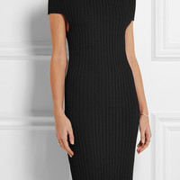 Calvin Klein Collection - Walter off-the-shoulder ribbed-knit dress
