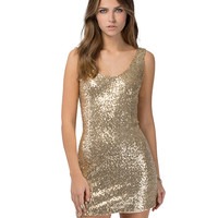 Sequined Sleeveless Bodycon Mini Dress