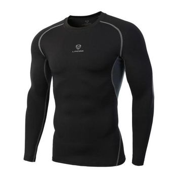 PEAPFS2 2017 New Fitness MMA Compression Shirt Men Bodybuilding Long Sleeve Black Clothing 3D Crossfit Fitness Tops Dry BreathableShirts