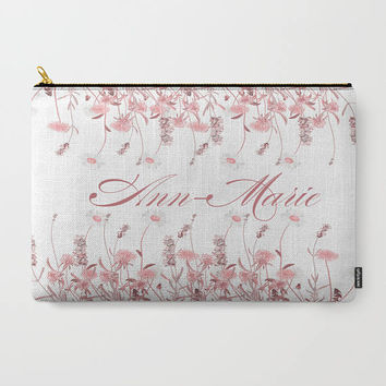Carry-All Pouch or Laptop Sleeve - Custom, Name, Monogram, Christmas, Gift, Canvas-like fabric, Travel, Pocket, Cosmetic, Make-up, Toiletry