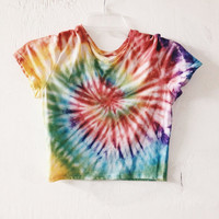Custom Made Tie Dyed Crop Top Any Color Tie Dye Tumblr Brandy Melville