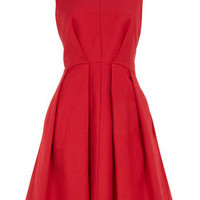 Raspberry v-front dress - View All - Dresses - Dorothy Perkins