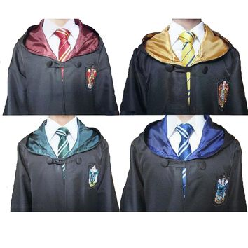 Harri Potter Robe Gryffindor/SlytherinRavenclaw/Hufflepuff Cosplay Costumes  Kids Adult Harry's Cape cloak 11 SIZE