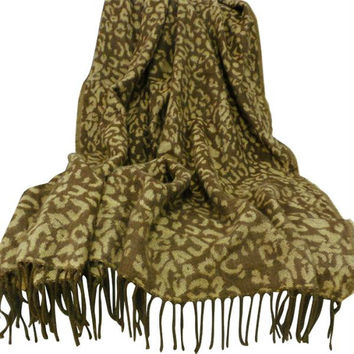 Lavish Home Jacquard Blanket Throw - Gold