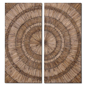 Uttermost Lanciano 2 Wall Panel in Natural Wood