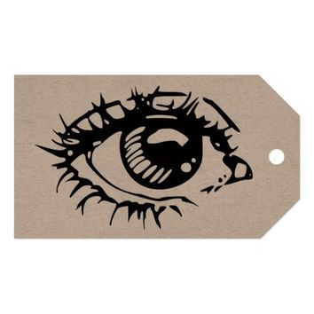 EYE ILLUSTRATION Custom Gift Tags Pack Of Gift Tags