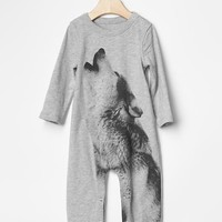 Gap Baby Graphic Wolf One Piece