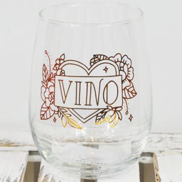 vino wine glass