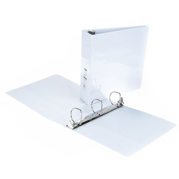 "2"" 3-Way View Binder with Inner Pockets - White - CASE OF 6"