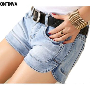 Sexy Bodycon Short Jeans Summer Demin Shorts 2015 Women Hot Shorts Plus Size Skort Femininos Slim Leg Woman Clothes