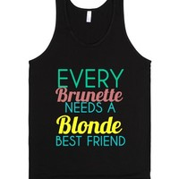 Every Brunette-Unisex Black Tank