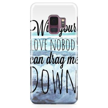 One Direction Drag Me Down Lyric Samsung Galaxy S9 Case | Casefantasy