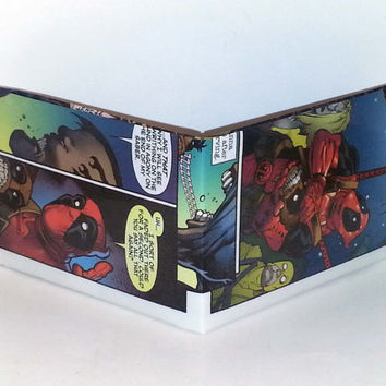 Black Friday Sale// Comic Book Wallet// Deadpool and Headpool