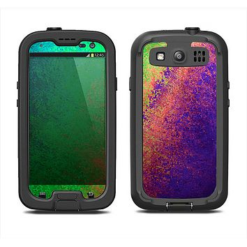 The Vivid Neon Colored Texture Samsung Galaxy S3 LifeProof Fre Case Skin Set