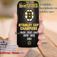 Boston Bruins Grunge Quote iPhone 6s 6 6s+ 5c 5s Cases Samsung Galaxy s5 s6 Edge+ NOTE 5 4 3 #quote dl10