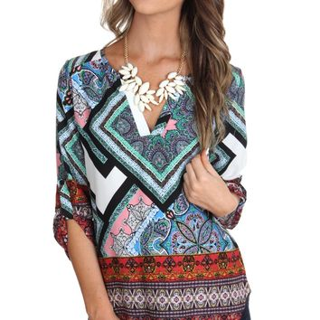 Angled Abstract Blouse