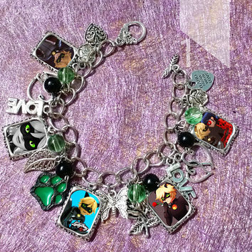 Miraculous Ladybug charm glow in the dark  Bracelet