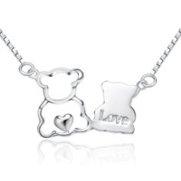 Bear Lovers Necklace - 925 Sterling Silver
