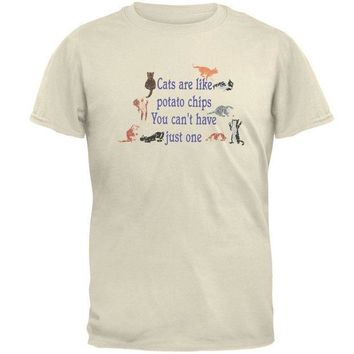 CREYCY8 Cats Are Like Potato Chips Adult T-Shirt